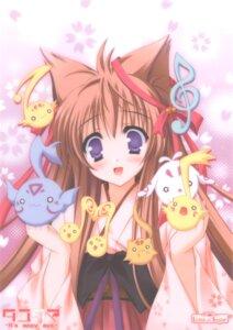 Rating: Safe Score: 20 Tags: animal_ears kimono kitsune lump_of_sugar mito_mashiro moekibara_fumitake tayutai tayutama User: Gekisoku