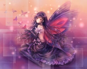 Rating: Safe Score: 49 Tags: accel_world dress kuroyukihime tandolcedeco wings User: Hentar