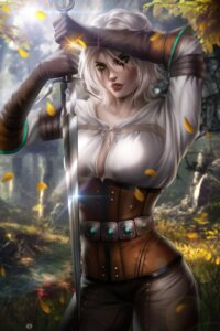 Rating: Safe Score: 18 Tags: ayyasap ciri no_bra official_watermark sword the_witcher the_witcher_3 User: charunetra