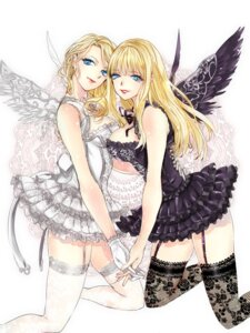 Rating: Safe Score: 22 Tags: blade_&_soul cleavage dress fishnets stockings thighhighs tsuna2727 wings User: charunetra