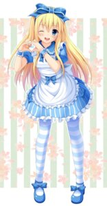 Rating: Safe Score: 45 Tags: alice alice_in_wonderland korotan lolita_fashion pantyhose User: fairyren