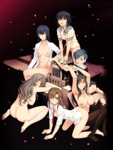 Rating: Questionable Score: 57 Tags: aramoto_mutsumi ass bottomless bra breasts hototogisu ikeda_eri jpeg_artifacts kouzenji_ren naked nipples no_bra nopan open_shirt pantyhose sakura_romako seifuku shigino_fubuki takaida_yayoi thighhighs topless torn_clothes tsukamoto_kagari tsurumiku User: QB5566