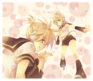 Rating: Safe Score: 3 Tags: kagamine_len kagamine_rin rikkyu vocaloid User: Radioactive