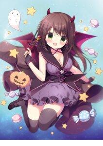 Rating: Safe Score: 19 Tags: canvas+garden cleavage dress halloween heels horns miyasaka_nako thighhighs wings User: lightsnow