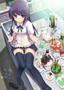 Rating: Questionable Score: 64 Tags: kotobuki_utage pantsu thighhighs waitress working!! yamada_aoi User: svaax