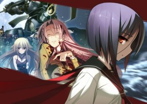 Rating: Safe Score: 24 Tags: ashikaga_chachamaru ayane_ichijou blood full_metal_daemon_muramasa mecha namaniku_atk nitroplus ootori_kanae seifuku User: demonbane1349