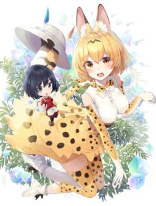 Rating: Questionable Score: 13 Tags: animal_ears animal_ears_(artist) chibi kaban_(kemono_friends) kemono_friends serval skirt_lift tail thighhighs User: Mr_GT