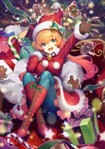 Rating: Questionable Score: 20 Tags: christmas dress pantyhose skirt_lift y.i._(lave2217) User: Dreista