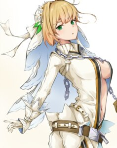Rating: Questionable Score: 29 Tags: fate/grand_order no_bra open_shirt saber_bride saber_extra tagme User: BattlequeenYume