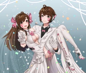 Rating: Safe Score: 21 Tags: cleavage d.va dress fishnets genderswap headphones heels no_bra overwatch see_through thighhighs tikeworld wedding_dress User: Mr_GT