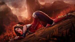 Rating: Questionable Score: 22 Tags: armor ass bodysuit firolian irelia league_of_legends User: Darkthought75