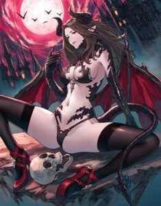 Rating: Safe Score: 3 Tags: bikini_armor cleavage heels horns makimura_shunsuke pointy_ears tail thighhighs wings User: Mr_GT
