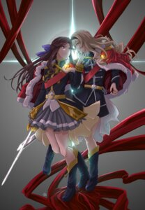 Rating: Safe Score: 11 Tags: heels saijou_claudine shoujo_kageki_revue_starlight sword tagme tendou_maya uniform User: saemonnokami