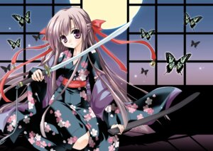 Rating: Safe Score: 10 Tags: minase_lin paranoia_max sword yukata User: Radioactive