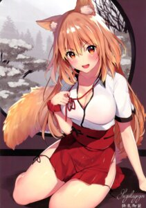 Rating: Safe Score: 31 Tags: animal_ears cleavage fate/grand_order matarou miko suzuka_gozen_(fate/grand_order) tail User: kiyoe