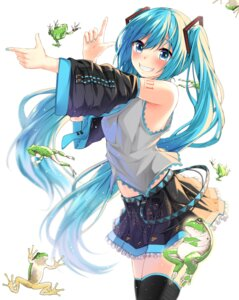 Rating: Safe Score: 53 Tags: hatsune_miku jack_dempa no_bra tattoo thighhighs vocaloid User: Mr_GT