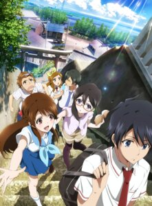 Rating: Safe Score: 32 Tags: digital_version glasslip landscape megane seifuku thighhighs User: blooregardo