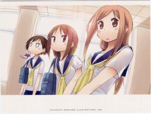 Rating: Safe Score: 7 Tags: aikawa_chiho endcard hasegawa_fumi kakifly okano_kei seifuku yuyushiki User: edogawaconan