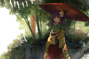 Rating: Safe Score: 50 Tags: hieda_no_akyuu japanese_clothes thkani touhou umbrella User: Mr_GT