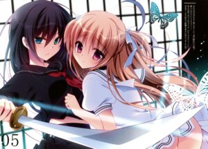 Rating: Questionable Score: 44 Tags: ass nanaca_mai nanacan nopan seifuku sword User: Twinsenzw