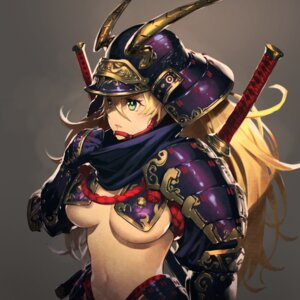Rating: Questionable Score: 9 Tags: armor cozy no_bra sword underboob User: Mr_GT
