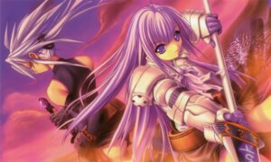 Rating: Safe Score: 8 Tags: armor aselia_bluespirit eien_no_aselia hitomaru sword uruka_blackspirit xuse User: TBFGETTA
