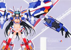 Rating: Questionable Score: 21 Tags: achunchun cleavage garter_belt lingerie mecha_musume otome_tamashii pantsu scanning_dust screening stockings super_robot_wars thighhighs User: peoplo