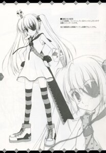 Rating: Safe Score: 7 Tags: eyepatch ice_&_choco monochrome nanao_naru sword thighhighs User: admin2