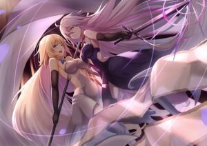 Rating: Safe Score: 35 Tags: dress fate/grand_order fifty1202 heels jeanne_d'arc jeanne_d'arc_(alter)_(fate) jeanne_d'arc_(fate) sword thighhighs User: BattlequeenYume