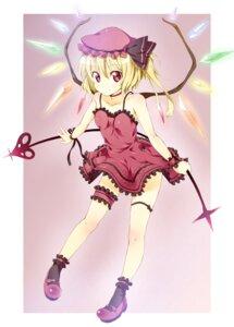 Rating: Safe Score: 35 Tags: dress flandre_scarlet garter ichi_makoto touhou User: fairyren