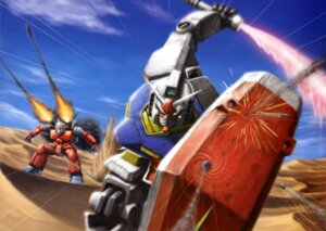 Rating: Safe Score: 6 Tags: gun gundam mecha mobile_suit_gundam rx-78-2_gundam sword weapon User: drop