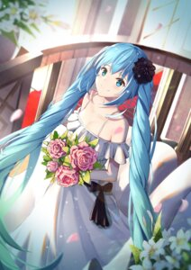 Rating: Safe Score: 46 Tags: cleavage dress hatsune_miku mobu_(wddtfy61) vocaloid wedding_dress User: Mr_GT