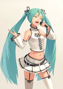Rating: Safe Score: 19 Tags: hatsune_miku thighhighs vocaloid zengxianxin User: Radioactive