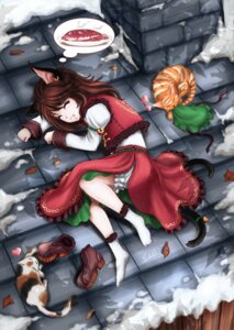 Rating: Safe Score: 14 Tags: animal_ears chen neko nekomimi skyspace tail touhou User: Mr_GT