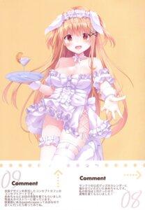 Rating: Questionable Score: 14 Tags: dress kinokomushi no_bra skirt_lift thighhighs User: Arsy