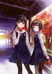 Rating: Safe Score: 80 Tags: fukahire_sanba hanekoto pantyhose seifuku User: Twinsenzw
