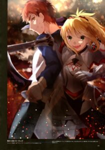 Rating: Safe Score: 25 Tags: armor creat emiya_shirou fate/stay_night mordred_(fsn) sword type-moon weapon User: drop