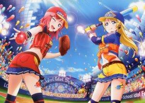 Rating: Safe Score: 20 Tags: ayase_eli baseball love_live! nishikino_maki tagme tattoo thighhighs uniform User: Radioactive