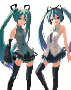 Rating: Safe Score: 40 Tags: animal_ears hatsune_miku nekomimi thighhighs vocaloid zengxianxin User: Radioactive