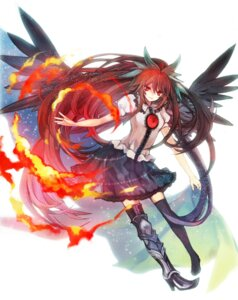 Rating: Safe Score: 12 Tags: dress hina reiuji_utsuho thighhighs touhou wings User: admin2