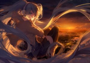 Rating: Safe Score: 91 Tags: hatsune_miku landscape rella thighhighs vocaloid User: Radioactive