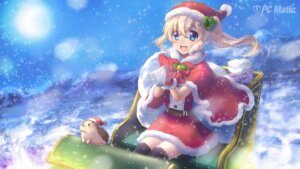Rating: Safe Score: 17 Tags: akai_acuo christmas dress pc_matic thighhighs wallpaper User: moonian