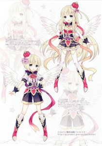 Rating: Safe Score: 40 Tags: cleavage masou_eishou_battlestar thighhighs wasabi_(artist) wings User: yong