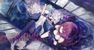 Rating: Safe Score: 56 Tags: cleavage dress hatsune_miku kiwamu megurine_luka vocaloid User: shinkuu