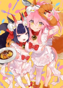 Rating: Questionable Score: 41 Tags: aano_(10bit) animal_ears cleavage fate/grand_order horns naked_apron shuten_douji_(fate/grand_order) tail tamamo_cat thighhighs User: Mr_GT