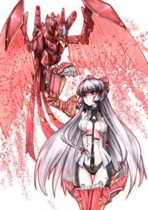 Rating: Safe Score: 25 Tags: armor fujiwara_no_mokou mecha thighhighs touhou wazawai User: Mr_GT