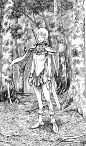 Rating: Safe Score: 4 Tags: armor clare claymore monochrome sword yagi_norihiro User: Radioactive