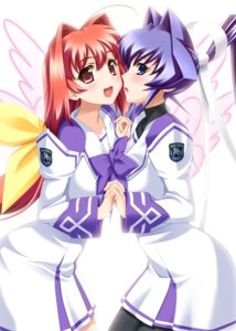Rating: Safe Score: 24 Tags: kagami_sumika mitsurugi_meiya muvluv pantyhose seifuku uniform User: demonbane1349