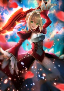 Rating: Safe Score: 40 Tags: cleavage dress fate/extra fate/stay_night pantsu saber_extra see_through suishougensou sword User: mash