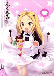 Rating: Safe Score: 9 Tags: fukumimi horns maid tail User: drop